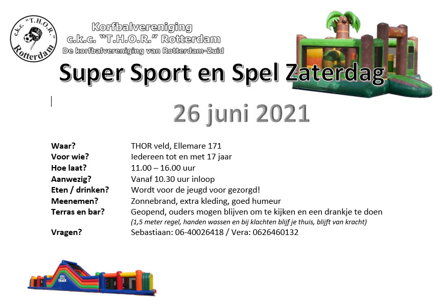 Super Sport en Spel Zaterdag 26/06/2021
